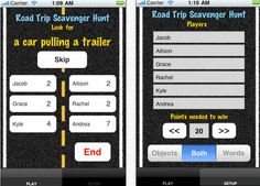 ESSENTIAL APPS FOR THE PERFECT SUMMER ROAD TRIP: Road Trip Scavenger Hunt.