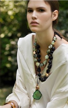 Cover of our Fall Look Book. Photography by Shayna Fontana. Necklaces by Julie Cohn Design