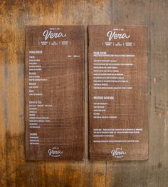 Based in Zaragoza (Spain), the team at printing craft workshop El Calotipo are responsible for these beautiful, thick wooden menu designs fo...