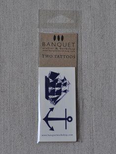 Maritime Tattoo (Anchor & Ship)