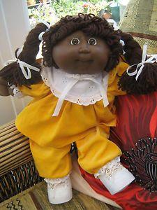 Original Cabbage Patch Dolls | Vintage 1986 Original Black Cabbage Patch Kid Doll, Rare Original ...