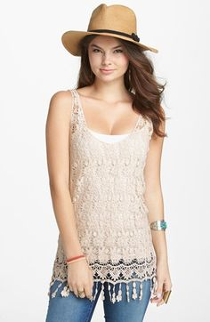 LOVING this crocheted tunic!