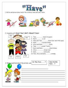 English Grammar Exercises, Grammar Practice, English Resources, Grammar Worksheets, English Vocabulary, First Grade, Speech Therapy, Learn English, English Language