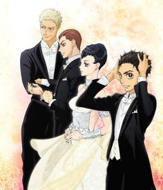 Dessins des personnages de l'animé Welcome To The Ballroom !