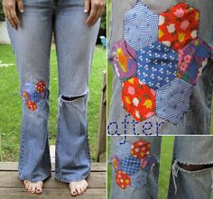 DIY Knee Patches DIY : The Blue Jean Baby Project