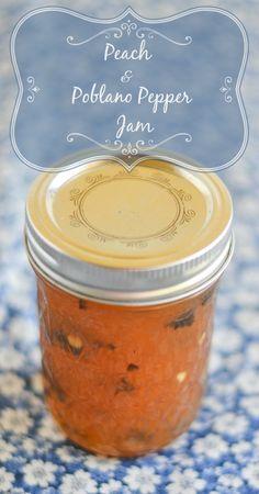 Peach Poblano Pepper Jam | http://flouronmyface.com