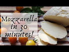 Make mozzarella at home with this simple, thirty minute recipe. Simple ingredients and quick, delicious results! Home Made Mozzarella Cheese, Homemade, Simple, Recipes, Food, Home Made, Essen, Meals, Eten