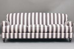 Meg Sofa | Black and White Striped Sofa