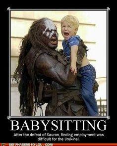 Lord of the Rings - Babysitting..... Hahaha!!