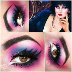 Elvira costume wigs full length dress makeup tutorial elvira mistress of the dark makeup tutorial missjessicaharlow elvira makeup tutorial Elvira Makeup, Goth Makeup, Sexy Makeup, Dark Makeup, I Love Makeup, Makeup Inspo, Makeup Inspiration, Makeup Looks, Makeup Ideas