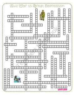 Social Studies Review Crossword Puzzles - Five Pack from LaRocks ...