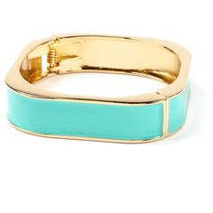 Square Hinge Enamel Cuff ($50) ❤ liked on Polyvore