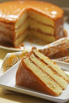 Pastel de Caramelo. Caramel Cake.