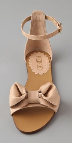 RED Valentino bow ankle strap flat.
