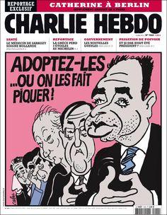 """""""Adoptez-les ou on les fait piquer !"""" Tragic Comedy, Le Bataclan, Learn Art, Old Paper, Satire, Memes, Cover, Journal, Comics"""