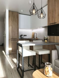 15 Beautiful Small Kitchen Remodel Ideas – Decorating Solution Small Kitchen Suggestions and also Styles. The Cube Kitchen. The cube plainly defines the kitchen location. Apartment Interior, Kitchen Room, Kitchen Remodel, House Interior, Modern Kitchen Design, Minimalist Kitchen, Apartment Kitchen, Kitchen Design, Trendy Home