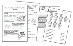 Le père noël qui voulait changer de couleur, lecture, compréhension, struture répétitive, cp, ce1, cycle 2, dixmois Home Activities, Christmas Activities, French Christmas, Christmas Holidays, Christmas Treats For Gifts, Core French, Teaching French, Reading Comprehension, Kids Learning