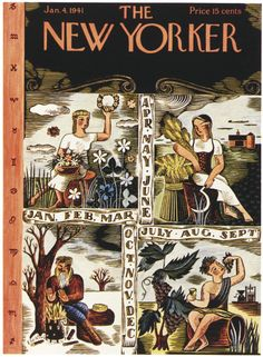 Ilonka Karasz : Cover art for The New Yorker 829 - 4 January 1941