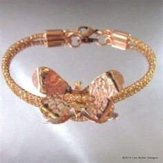 10 Artisan Made Copper Butterfly Button Viking Knit Bracelets Wholesale Only LBDW1028