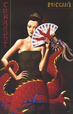 Rafal Olbinski, Poster for Film of Puccini's Opera, Poland, 1997