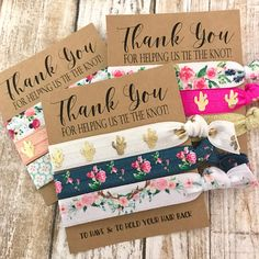 Bridesmaids Gift  Hair Ties  Thank you for helping us tie the