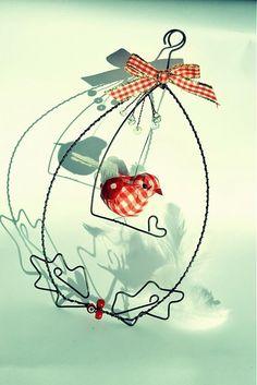 Wire bird SAShE.sk - Handmade Christmas