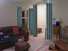 If I put blue accents around the room (flower planters, lamp...), how it will look with THAT drape?