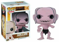 Cabezón El Hobbit. Gollum, 10cms. Pop Movies. Funko