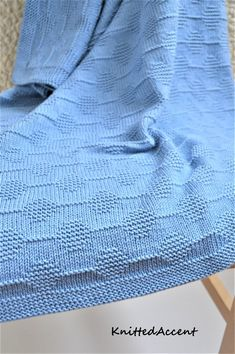 Wool Baby Blanket, Knitted Baby Blankets, Baby Boy Knitting Patterns, Baby Knitting, Handmade Baby Blankets, Garter Stitch, Knitting Projects, Knit Crochet, Merino Wool