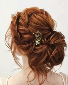 Wedding Hairstyles For Long Hair Featured Hairstyle: Elstile (El Style); Wedding Hairstyles For Long Hair, Wedding Hair And Makeup, Wedding Updo, Bridal Hair, Wedding Makeup Redhead, Bride Makeup, Red Wedding, Elegant Wedding, Redhead Hairstyles