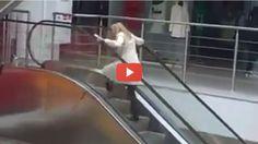 Vídeo para Rir  Como Uma Loira Sobe A Escada Rolante