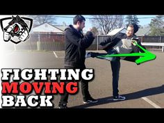 How to Kick while Moving Backwards in a Fight