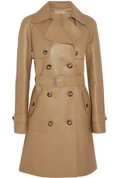 Michael Kors Collection | Bonded leather trench coat | NET-A-PORTER.COM