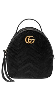 Gucci GG Marmont 2.0 Matelassé Quilted Velvet Backpack available at   Nordstrom Gg Marmont, Gucci 4111296c72