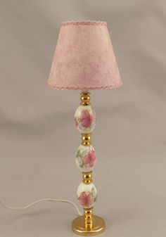 Hey, I found this really awesome Etsy listing at https://www.etsy.com/listing/247098081/dollhouse-miniature-lighted-ceramic-pink