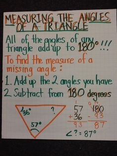 Measuring Angles of a Triangle