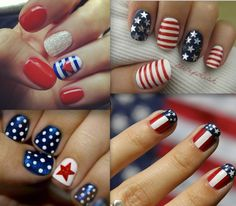 4th of July Nails- attempted some of these designs last night but totally failed!