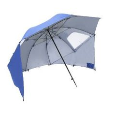 Sport Brella is the latest version of the SKLZ cool beach umbrella style sun shelter. Sets up in seconds with high sun protection. Beautiful oversized beach umbrella can convert to a beach tent. Blue Umbrella, Beach Umbrella, Outdoor Umbrella, Protection Portable, Beach Canopy Tent, Canopies, Weather Umbrella, Sun Tent, Fishing Umbrella