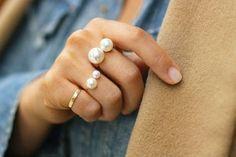 Pearl rings.