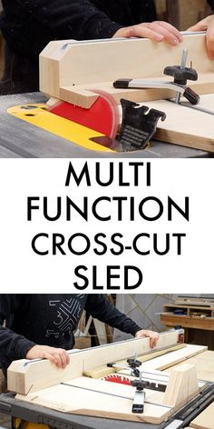 Multi Function Cross Cut Sled - Cut Miters and Bevels! - Multi Function Cross Cut Sled – Cut Miters and Bevels! Kids Woodworking Projects, Woodworking Plans Pdf, Awesome Woodworking Ideas, Woodworking Techniques, Woodworking Furniture, Diy Wood Projects, Fine Woodworking, Grizzly Woodworking, Woodworking Basics