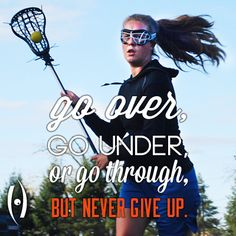 This quote actually really helped me in my last game. The ball is safest in your stick!