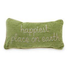 Disney Pillow - ''Happiest Place on Earth'' Disney Bathroom, Disney Bedrooms, Disney Fanatic, Disney Home, Disney Merchandise, Disney Girls, Disney Inspired, Earth, Online Registry