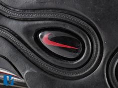 New Air Max feature a logo button in the sole under the heel. Check the quality of the printing of the swoosh as well as the production of the button itself. Air Max 97, Nike Air Max, Printing, Button, Check, Air Max, Buttons, Knot