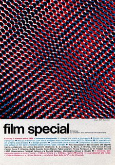 Vintage and Retro - Advertising - Magazine Ad - Film special (Italy) Graphic Design Posters, Modern Graphic Design, Retro Design, Graphic Design Illustration, Graphic Design Inspiration, Typography Design, Magazine Images, Magazine Ads, Op Art