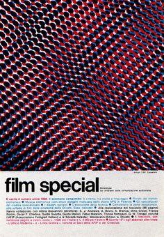 """1969 Magazine Advertisement. """"Film Special: bimestrale sui problemi della comunicazione audiovisia"""" Advertising Office: Studio S & F Cappellato Milano, Italy"""