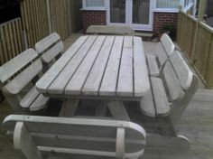 Heavy Duty Garden Picnic Pub Table And Bench Set Extra Large Garden Furniture