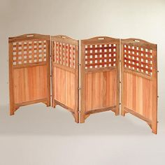 Too short for what I'm thinking... but if was taller could be a good screen to segregate entertaining from storage space.... or to hide unsightly views....  Would prefer 5 ft or taller.   One of my favorite discoveries at WorldMarket.com: Acacia Wood Outdoor 4-Panel Screen