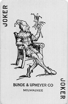 Vintage Joker Bunde Upmeyer Co Milwaukee WI Single Swap Playing Card Joker Playing Card, Joker Card, Unique Playing Cards, Vintage Playing Cards, Joker Queen, Tarot Decks, Deck Of Cards, Skull Art, Small Gifts