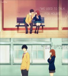 Time flies when we don't realize this...    Anime: Ao Haru Ride