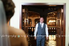 Bride's dad seeing her for the first time... Kaitlyn + Ron | Toledo Zoo Wedding Photographer » meg darket photography